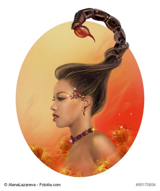 Horoscope Zodiac - Fantasy Scorpio portret beautiful girl